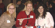 McGill grads Stephenie Davies, BSc'95, Ottawa Young Alumni president Dominique Groulx, BA'95, and Spy Tsoukalas, BA'91, enjoyed a Chinese New Year dinner