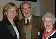 Dean Deborah Buszard of the Faculty of Agricultural and Environmental Sciences joined graduates at Toronto's annual Royal Agricultural Winter Fair in November. Dean Buszard (left) is shown with David and Betty Grant, BSc(HEc)'46.