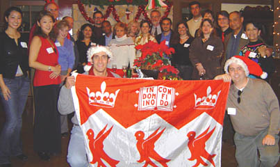 It may not have been a white Christmas, but graduates in Northern California had a great time at their alumni holiday party held at the home of Dan Rosenstein, BSc'91, MDCM'95, in Palo Alto in December.