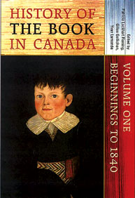 History of the Book in Canada cover.