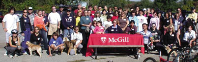 The McGill Caledon Bike and Walk-a-Thon, organized by Karin Heidolph-Bremner, BCom'81, and Thomas Bremner, BA'80, is gearing up for its sixth year this coming fall. About 100 people took part in the event last year in Caledon, Ontario.