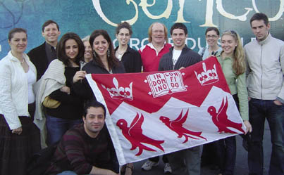 The McGill Alumni of New York organized a recent trip to see the Cirque du Soleil production Corteo.